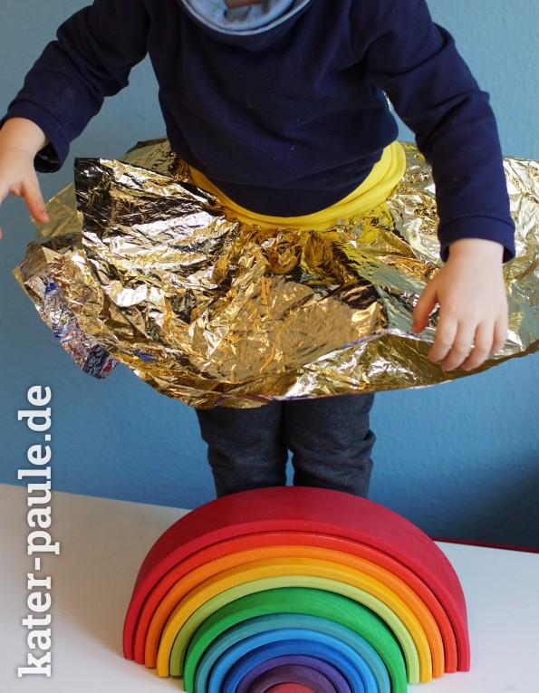 Glitzerrock - Last Minuten Faschings Kostüm für KInder DIY