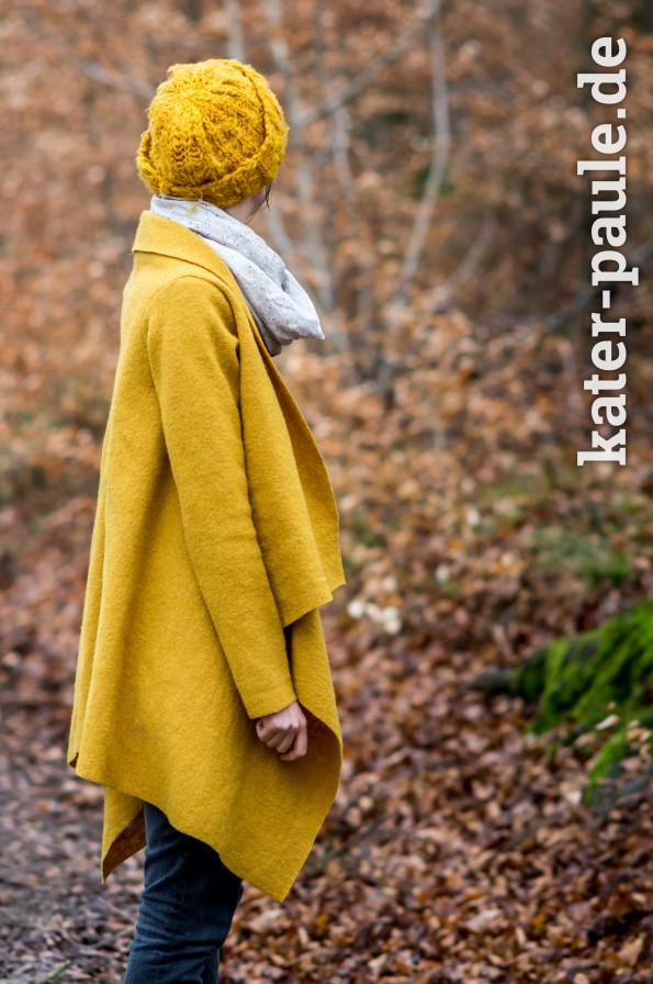 Mantel selber Nähen - Wollwalk - Herbst - Nähen für Erwachsene