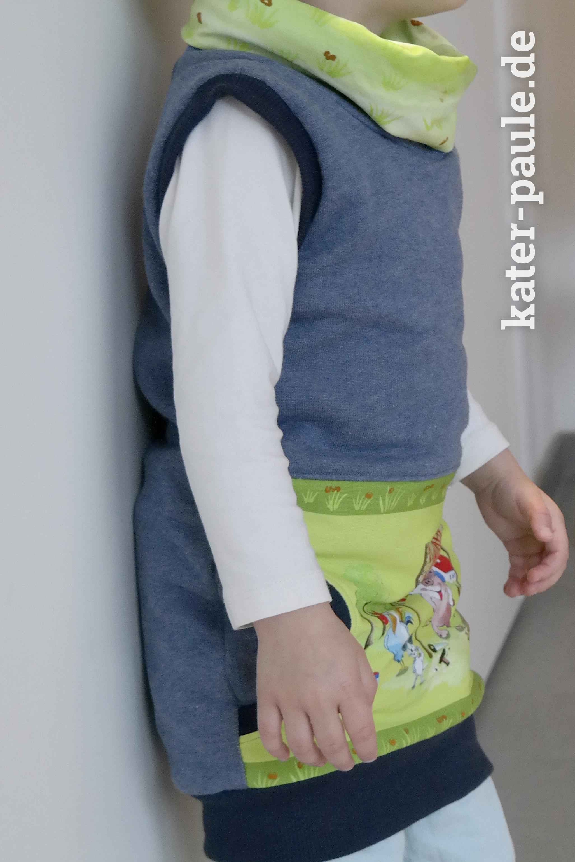 Pullunder Kleid Freunde Helme Heine Bilderbuchstoff Kroodie-Kleid Kater Paule