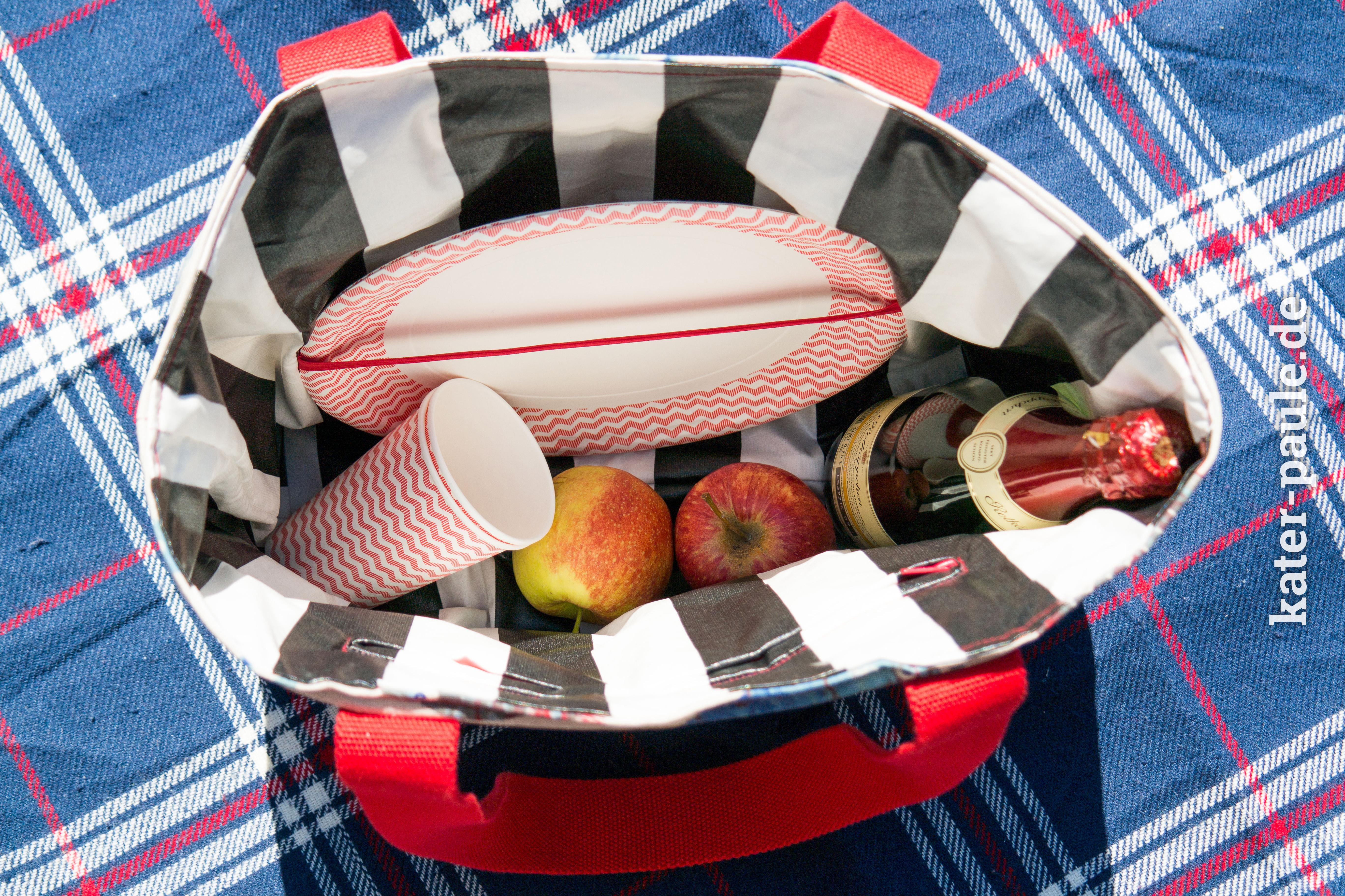 Picknicktasche / Freebook / Tasche / SnapPap / DIY / Wachstuch / Kater Paule / Nähgedöns