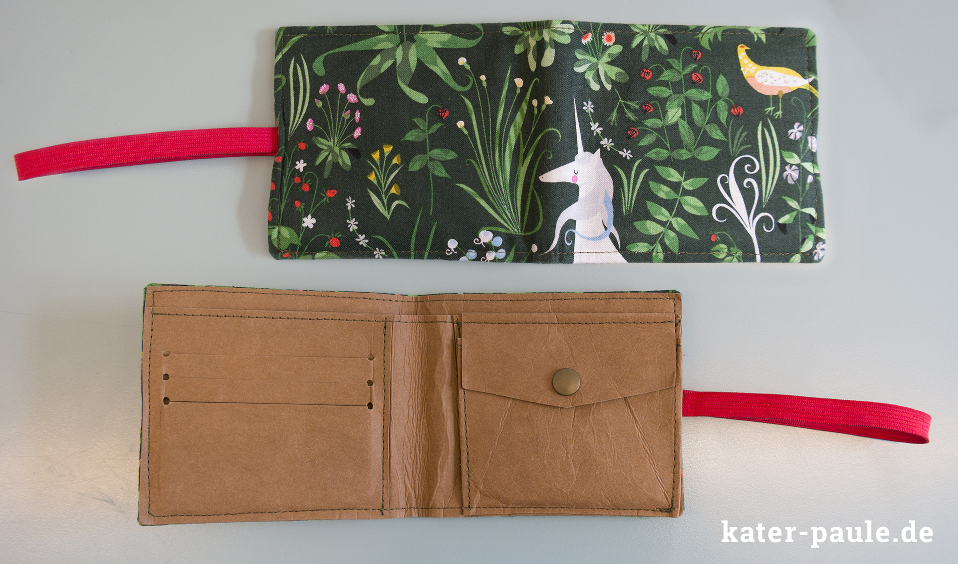 Kleine Geldbörse aus SnapPap nach dem Freebook von Pattydoo // Geldbeutel / The Lovely Hunt Unicorn / Andover Fabrics / Lizzy House / Wallet / KAM-Snaps / Snaply