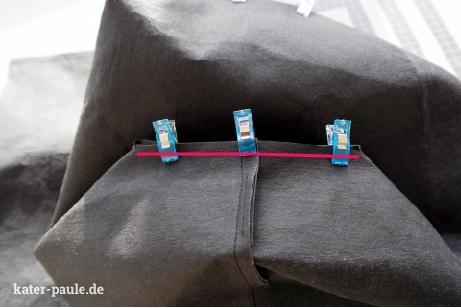 RatzFatz Rucksack / Tutorial / Schnittmuster /Backpack / Tasche / Handmade / Herbst / DIY / Black / SnapPap Plus / SnapPap / Kater Paule / Nähgedöns